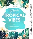 bright hawaiian design with... | Shutterstock .eps vector #455020678