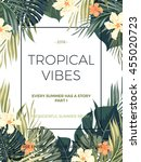 bright hawaiian design with... | Shutterstock .eps vector #455020723