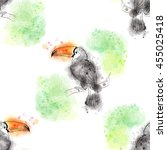 vector seamless background.... | Shutterstock .eps vector #455025418