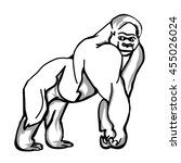 picture of large monkey  the... | Shutterstock .eps vector #455026024