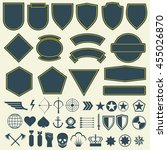 vector elements for military ... | Shutterstock .eps vector #455026870