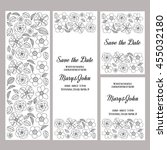 wedding invitation vector... | Shutterstock .eps vector #455032180