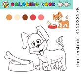 coloring book page template... | Shutterstock .eps vector #455033578