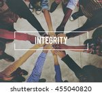 integrity trust moral loyalty... | Shutterstock . vector #455040820