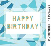happy birthday card template in ... | Shutterstock .eps vector #455041396