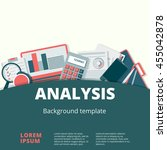 financial analysis vector... | Shutterstock .eps vector #455042878
