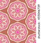 hand drawn seamless pattern... | Shutterstock . vector #455046739