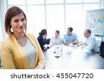 portrait of confident... | Shutterstock . vector #455047720