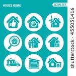 vector set web icons. house...   Shutterstock .eps vector #455051416
