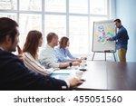 businessman giving presentation ... | Shutterstock . vector #455051560