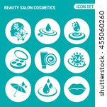 vector set web icons. beauty... | Shutterstock .eps vector #455060260