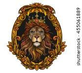 vector color lion king... | Shutterstock .eps vector #455061889