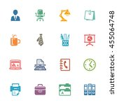 office icons   colored series  | Shutterstock .eps vector #455064748