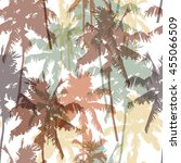 seamless pattern with palm... | Shutterstock .eps vector #455066509