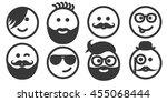 set of outline hipster... | Shutterstock .eps vector #455068444
