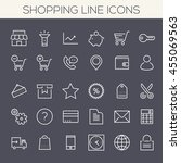 inline shopping icons collection | Shutterstock .eps vector #455069563