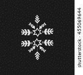 uncommon ethnic vector hand... | Shutterstock .eps vector #455069644