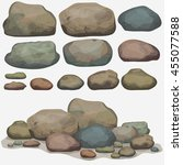 Rock Stone Set Cartoon....