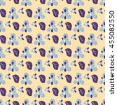 seamless floral pattern. color... | Shutterstock .eps vector #455082550