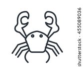 crab isolated icon design ... | Shutterstock .eps vector #455089036