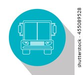 bus icon over circle  isolated... | Shutterstock .eps vector #455089528