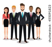 elegant businesspeople vector... | Shutterstock .eps vector #455091823