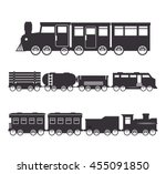 railroad train isolated icon... | Shutterstock .eps vector #455091850
