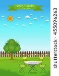 beautiful gardening. poster... | Shutterstock .eps vector #455096263