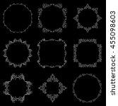set of elegant monogram design. ... | Shutterstock .eps vector #455098603