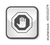 stop sign icon | Shutterstock .eps vector #455101579