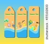 summer beach design... | Shutterstock .eps vector #455102833