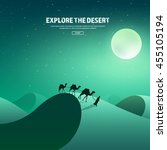 desert trip. extreme tourism... | Shutterstock .eps vector #455105194