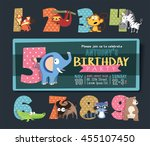 birthday party invitation... | Shutterstock .eps vector #455107450