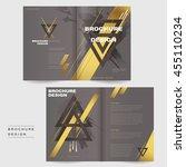 elegant bi fold brochure...   Shutterstock .eps vector #455110234