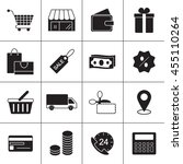 shopping line icons to use in...