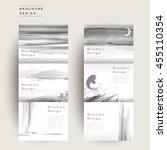 graceful tri fold brochure...   Shutterstock .eps vector #455110354