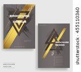 elegant brochure template...   Shutterstock .eps vector #455110360