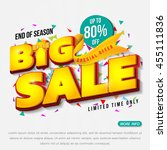 sale banner template design ... | Shutterstock .eps vector #455111836