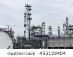 oil refinery and petroleum... | Shutterstock . vector #455123404