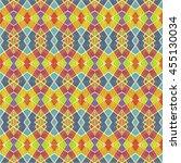 colorful multicolored geometric ... | Shutterstock . vector #455130034