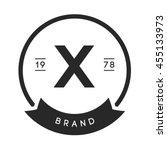 minimal letter x logo. vintage... | Shutterstock .eps vector #455133973