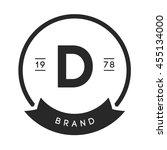 minimal letter d logo. vintage...   Shutterstock .eps vector #455134000