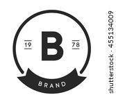 minimal letter b logo. vintage... | Shutterstock .eps vector #455134009