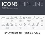 Water Sports Thin Line Icons