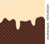 vanilla ice cream with... | Shutterstock .eps vector #455140264
