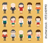 set of diverse business people. ... | Shutterstock .eps vector #455140990