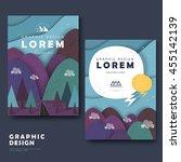 adorable brochure template... | Shutterstock .eps vector #455142139