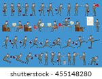 business process infographics... | Shutterstock .eps vector #455148280