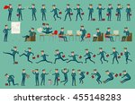 business man isolated vector... | Shutterstock .eps vector #455148283