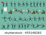 business man isolated vector... | Shutterstock .eps vector #455148283